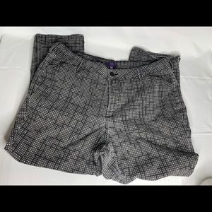 NYDJ Gray White Polka Dot Ankle Cropped Pants